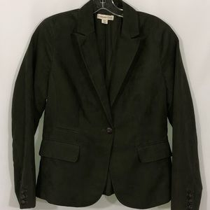 COLDWATER CREEK 1 button forest green blazer